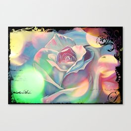 Victoria's Abstract Rose Canvas Print