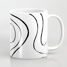 Ebb and Flow 2 - Black and White Coffee Mug