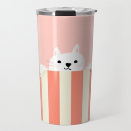 Abstraction_Little_Cat_Cute_Minimalism_001 Travel Mug