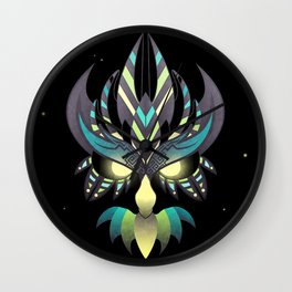 Aztec Owl Wall Clock