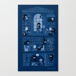 Silence in the Library Canvas Print