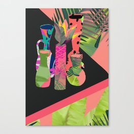 Jungle Pop! Retro Vases Canvas Print