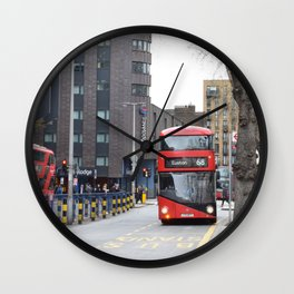 London Bus Wall Clock