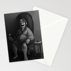 Portrait of a Plumber Stationery Cards
