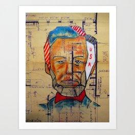 Abe Blueprint 2wo Art Print