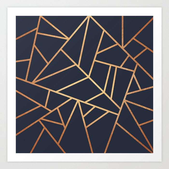 Copper and Midnight Navy Kunstdrucke