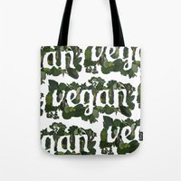 vegan Tote Bags featuring Vegan by Kopie Creative