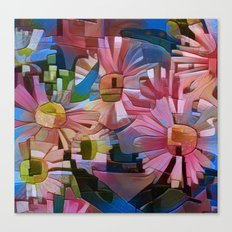 A Daisy Abstract Canvas Print