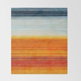 Yellowstone Orange Throw Blanket