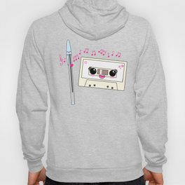 Cute pen and cassette lovers Hoody