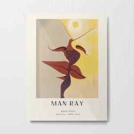 Poster-Man Ray-Deux Face. Metal Print