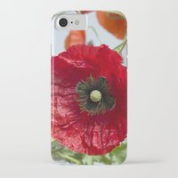 poppy iPhone & iPod Cases featuring Poppy by Maria Heyens