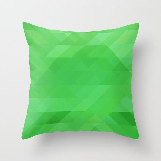 Green Geometrics Throw Pillow