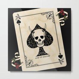 Ace Of Spades - Death Card Metal Print