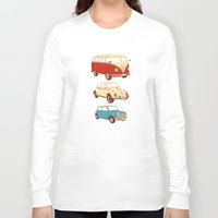 cars Long Sleeve T-shirts featuring Classic cars by John Holcroft
