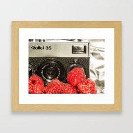 Raspberry Rollei Framed Art Print