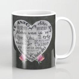 I Love You Chalk Heart Coffee Mug