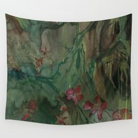 jungle Wall Tapestries featuring jungle by rysunki-malunki