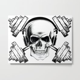 Lift or Die Metal Print