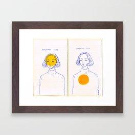 Sometimes Here, Sometimes Not Framed Art Print