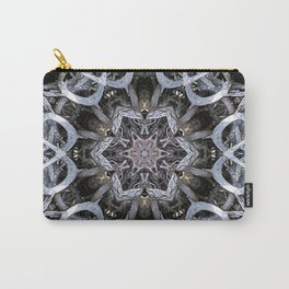 Dark natural mandala by twisted tree branches Carry-All Pouch