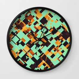 Rusty pixels Wall Clock