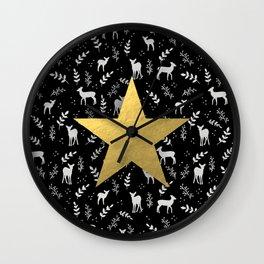 Reindeer games Wall Clock