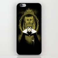 evil queen iPhone & iPod Skins featuring Evil Queen by pigboom el crapo
