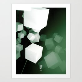 CUBIC PART ONE Art Print