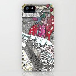 """""""Flamingo""""  Illustrated print iPhone Case"""