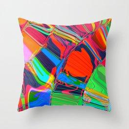 Liquid Love - Colour Smush Throw Pillow