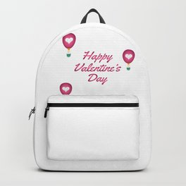 Happy Valentine's Day Love Heart Balloons Backpack