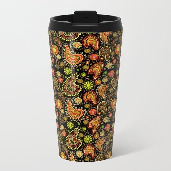 Paisley Power (Autumn) Metal Travel Mug