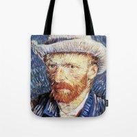 van gogh Tote Bags featuring Van Gogh  by klausbalzano