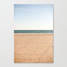 Sand, sea, sky Canvas Print