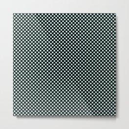 Black and Soothing Sea Polka Dots Metal Print