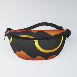 Yellowstone reflection artwork Fanny Pack