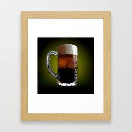 Big Beer Framed Art Print