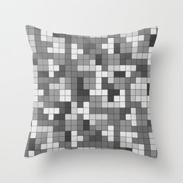 Tetris Camouflage Urban Throw Pillow