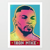 mike tyson Art Prints featuring Mike Tyson by RDotA Grapfiks
