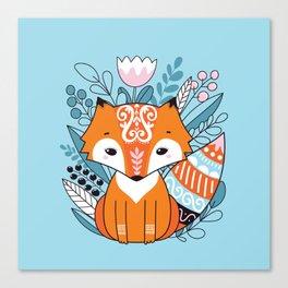 Cute fox Canvas Print