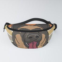 Dog German Shepherd Fur Missels K9 Fanny Pack
