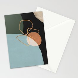 Geometric cosmos Stationery Cards