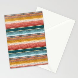 serape southwest stripe - orange & teal Stationery Cards