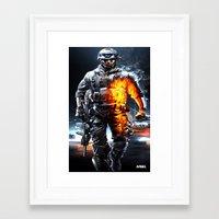 battlefield Framed Art Prints featuring Battlefield 3 by Angelblack