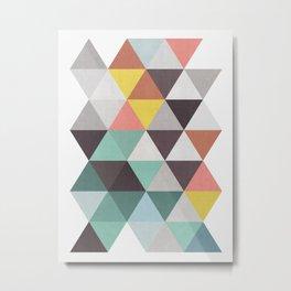Abstract Triangles Minimalist II Metal Print