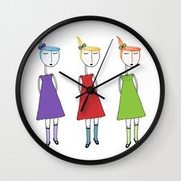 Un, Deux, Trois Wall Clock