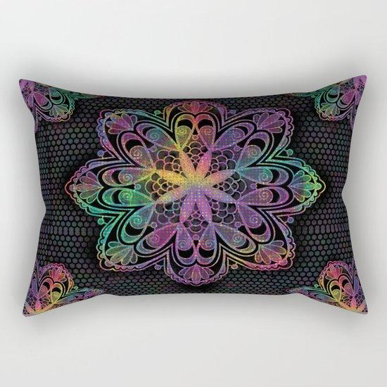Kaleidoscope Mandala Rectangular Pillow