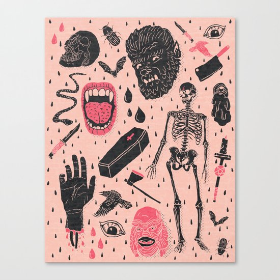Whole Lotta Horror Canvas Print