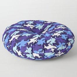 Blue Sharks Camouflage Pattern Floor Pillow